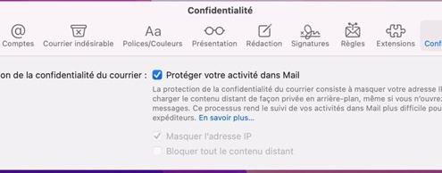 blocage apple mail